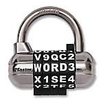 Master Lock Combination Alpha Padlock BlackSilver