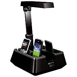 ottlite 13 watt hd charging valet desk lamp 16 h black by office depot officemax. Black Bedroom Furniture Sets. Home Design Ideas
