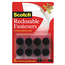 Scotch Recloseable Fasteners Black 58 x