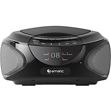 Ematic CD Boombox with Bluetooth Audio