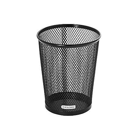 rolodex mesh jumbo pencil cup black black newell office depot