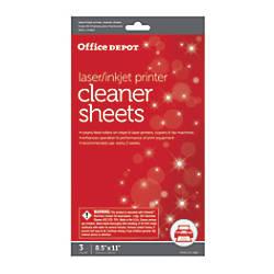 Office Depot Brand OD2537 PrinterCopierFax Cleaning
