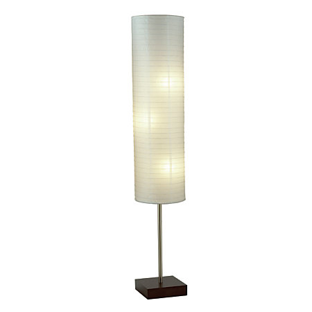 Adesso Gyoza Floor Lamp 67 H Walnutwhite By Office Depot