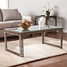 Southern Enterprises Akola Woven Cocktail Table