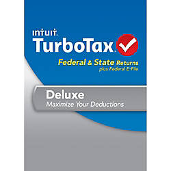 TurboTax Deluxe Fed + State + Efile 2013 (Windows), Download Version