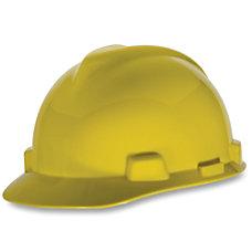 MSA V Gard Rachet Cap Yellow