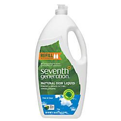 Seventh Generation Natural Dish Liquid Free