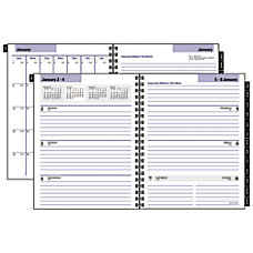 DayMinder Executive WeeklyMonthly Planner Refill 6