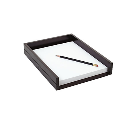 realspace wood letter tray 3 18 x 9 38