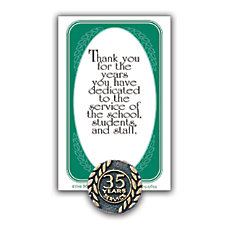 35 Years Of Service Lapel Pin