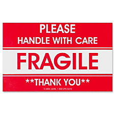 Tatco Shipping Label Fragile Handle with