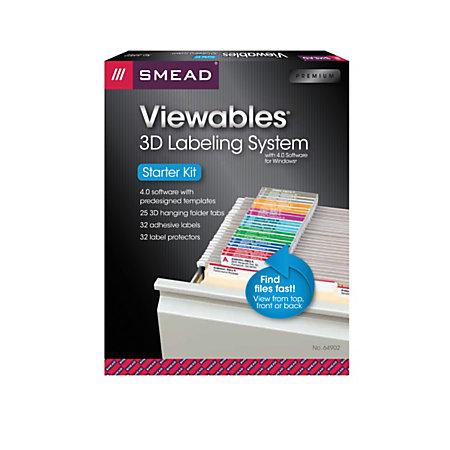 smead viewables labeling system for hanging folders starter kit pack of 25 labels. Black Bedroom Furniture Sets. Home Design Ideas