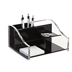 Realspace acrylic desk organizer 4 5 16 x 7 1 8 x 8 1 - Acrylic desk organizer ...