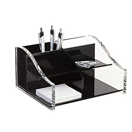 Realspace acrylic desk organizer 4 516 x 7 18 x 8 18 - Acrylic desk organizer ...