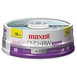 Maxell DVDRW Rewritable Media Spindle 47GB120