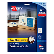 Avery Inkjet Clean Edge Business Cards