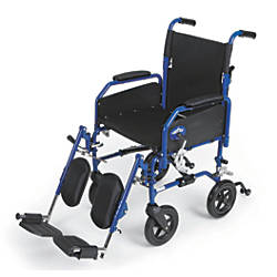 Medline Hybrid 2 Transport Wheelchair Elevating