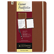 Southworth Career Padfolio Leatherette Brown 1