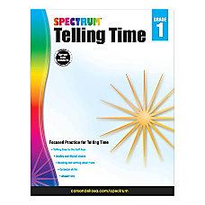 Spectrum Telling Time Workbook Grade 1