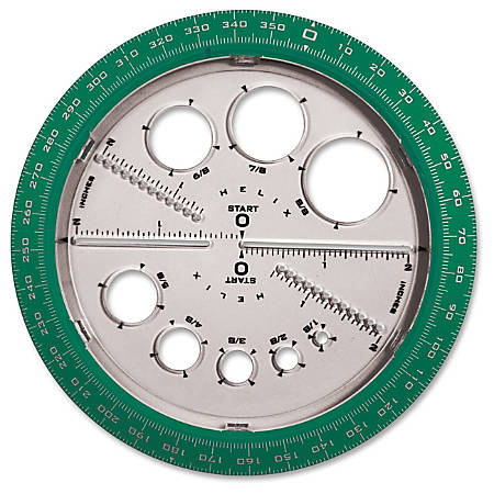 circular protractor template - helix angle and circle protractor plastic assorted by
