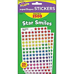Trend Super Shapes Star Smiles Stickers