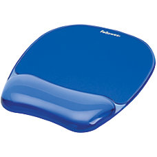 Fellowes Gel MousepadWrist Rest Crystals Blue