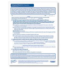 ComplyRight FMLA Designation Company Response Forms