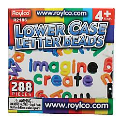 Roylco Lowercase Manuscript Letter Beads 58