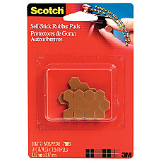 Scotch Self Stick Rubber Pads Brown