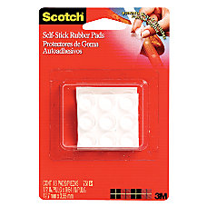 Scotch Self Stick Rubber Pads Clear
