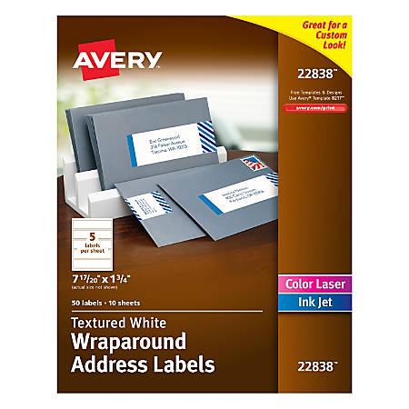 avery premium address labels wraparound 1 34 x 7 1720 With avery wraparound address labels