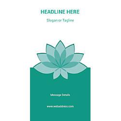 Custom Vertical Banner Teal Spa Flower