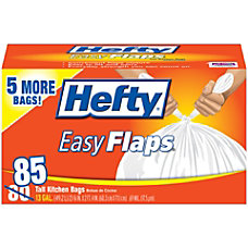 Hefty EasyFLAPS Trash Bags Tall Kitchen