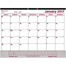 Brownline Vinyl Strip Monthly Desk Pad