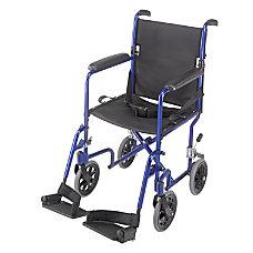 DMI Ultra Lightweight Folding Transport Chair