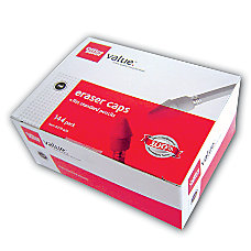 Office Depot Brand Eraser Caps Red