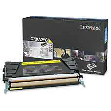 Lexmark C734A2YG Return Program Yellow Toner
