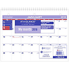 AT A GLANCE DeskWall Calendar 8