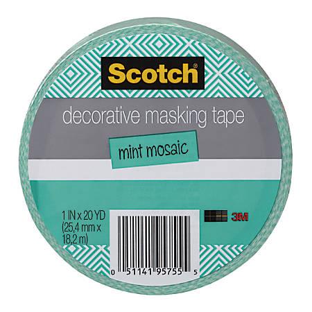 Scotch decorative masking tape 1516 x 27 310 yd mint mosaic by office depot - Decoration masking tape ...