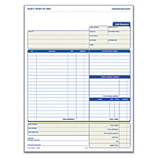 Adams Carbonless Contractors Invoices 2 Part