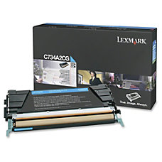 Lexmark C734A2CG Return Program Cyan Toner