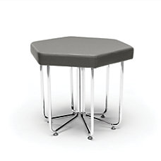 OFM Hex Series Stool SlateChrome