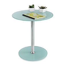 Safco Glass Accent Table Round 19