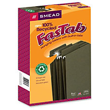 Smead 100percent Recycled FasTab Hanging Folders