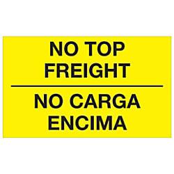 Tape Logic Bilingual Labels No Carga