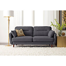 Serta Sierra Collection Sofa Slate GrayChestnut