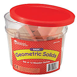 Learning Resources Geometric Solids Wooden Shapes