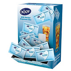 NJoy Aspartame Packets With Dispenser Blue