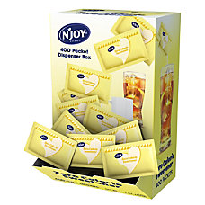 NJoy Sucralose Packets With Dispenser Yellow