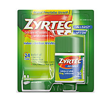 Johnson Johnson Zyrtec Tablets For Runny